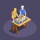 Construction Project Isometric Composition - GraphicRiver Item for Sale