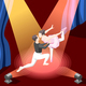Illustration of Couple Dancing Ballet
