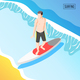 Water Sports Isometric Background - GraphicRiver Item for Sale