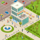 Urban Architecture Isometric Composition - GraphicRiver Item for Sale