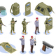 Military Special Forces Isometric Icons