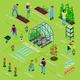 Greenhouse Isometric Flowchart - GraphicRiver Item for Sale