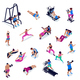 Isometric Fitness Set - GraphicRiver Item for Sale