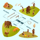 Primitive People Infographics - GraphicRiver Item for Sale