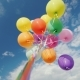 Many Multi-colored Balloons Aspire To the Sky - VideoHive Item for Sale