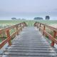 bridge via river in summer morning - PhotoDune Item for Sale