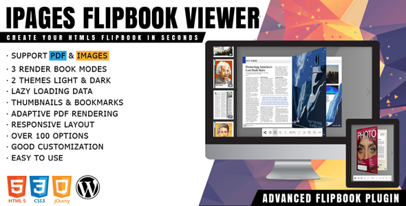 iPages - Flipbook PDF Viewer For WordPress            Nulled