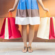 Close up of woman with shopping bags. Consumerism, shopping, lifestyle concept - PhotoDune Item for Sale