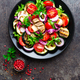 Salad with fresh and grilled vegetables and mushrooms - PhotoDune Item for Sale