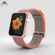 Apple Watch Series 2 42mm Rose Gold Aluminum Case Space Orange Woven Nylon