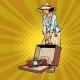 Female Terrorist Bomb in Baggage - GraphicRiver Item for Sale