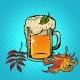 Beer Foamy Oktoberfest Autumn