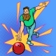 Man Throws Bowling Ball - GraphicRiver Item for Sale