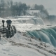 Winter at Niagara Falls. Sight Place with Binoculars Without People - VideoHive Item for Sale