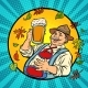 Oktoberfest German Old Man with Beer - GraphicRiver Item for Sale