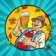 Oktoberfest German Old Man with Beer