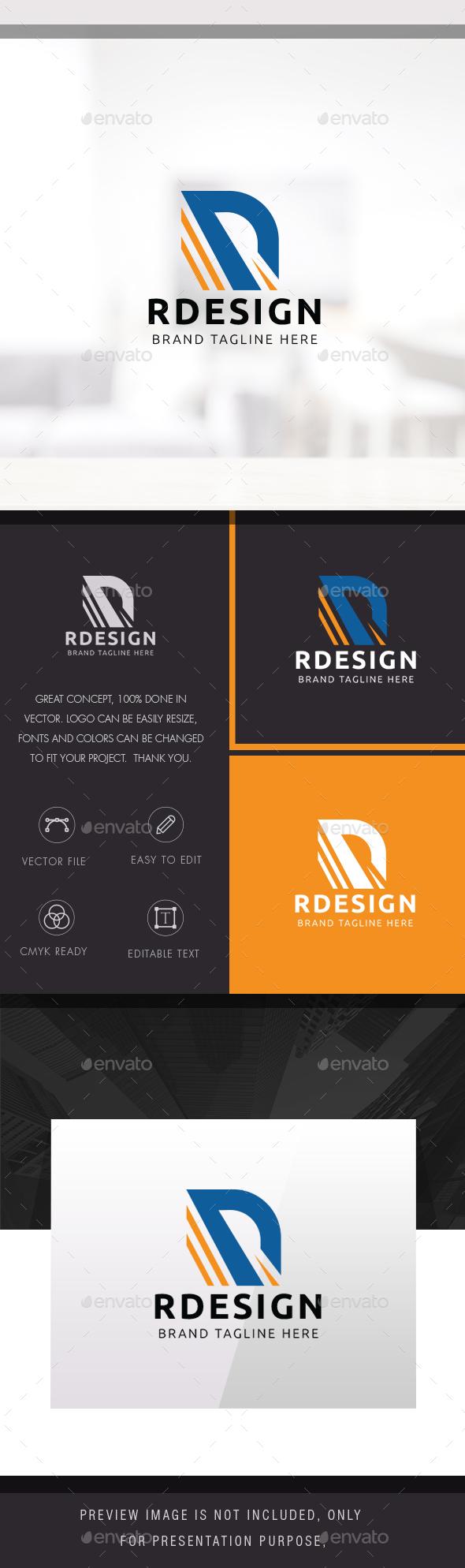R Design/ R letter - Symbols Logo Templates