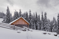 Fantastic landscape with snowy house - PhotoDune Item for Sale