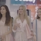 Three Smiling Young Woman Walking in Shopping Mall - VideoHive Item for Sale