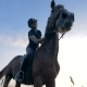 Woman Sits on a Horse Outdoors - VideoHive Item for Sale