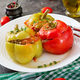 Stuffed pepper with minced meat and buckwheat porridge. Tasty food. - PhotoDune Item for Sale