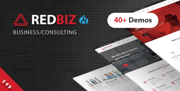 RedBiz - Business & Consulting Multi-Purpose Drupal 8 Theme Free Download | Nulled