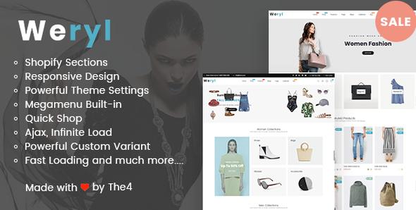Weryl - Responsive Shopify Theme - Fashion Shopify