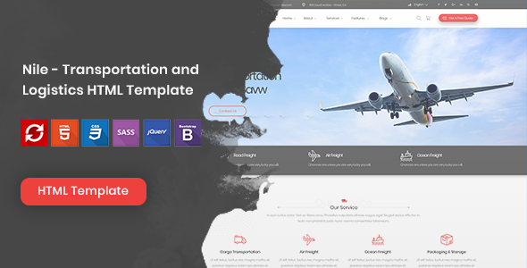 Nile – Transportation and Logistics HTML Template | Bootstrap4