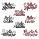 Hello Fall Typography Designs - GraphicRiver Item for Sale
