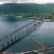 Bridge of City Tromso, Norway Aerial Footage - VideoHive Item for Sale