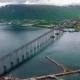 Bridge of City Tromso, Norway Aerial Footage - VideoHive Item for Sale
