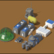 Low Poly Scifi Space Colony Pack