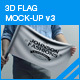 3D Flag Mockup V3 - GraphicRiver Item for Sale