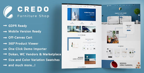 Credo - Creative Furniture and Interior Decor WooCommerce WordPress Theme