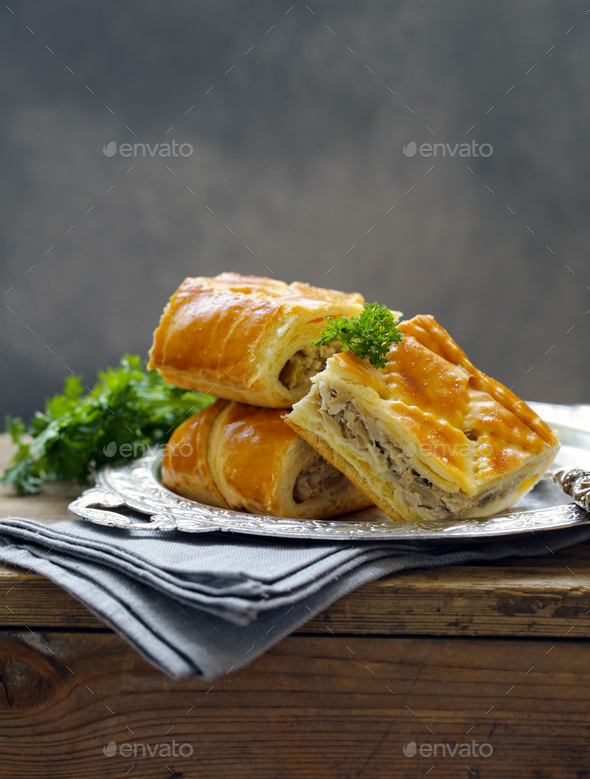 Meat Pie with Chicken - Stock Photo - Images