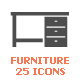 Furniture and Decor Filled Icon - GraphicRiver Item for Sale