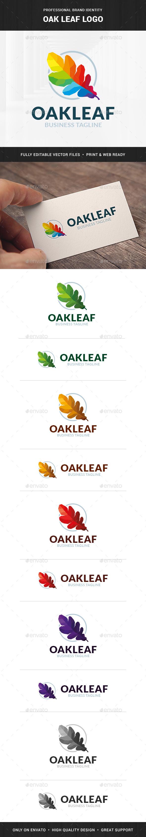 Oak Leaf Logo Template - Nature Logo Templates