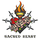 Sacred Heart Colorful Illustration - GraphicRiver Item for Sale
