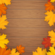 Autumn Leaves on Wooden Background - GraphicRiver Item for Sale