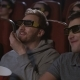 Man Friends Eating Popcorn at 3d Cinema Movie - VideoHive Item for Sale
