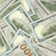 A Lot of Dollars Rotate. Spin Background of Hundred Usd. 100 Greenback Turn . - VideoHive Item for Sale