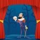 Actor Man Medieval Suit Tragic Theater Curtains