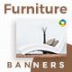 Furniture Web Banner Set - GraphicRiver Item for Sale