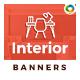 Interior Web Banner Set - GraphicRiver Item for Sale
