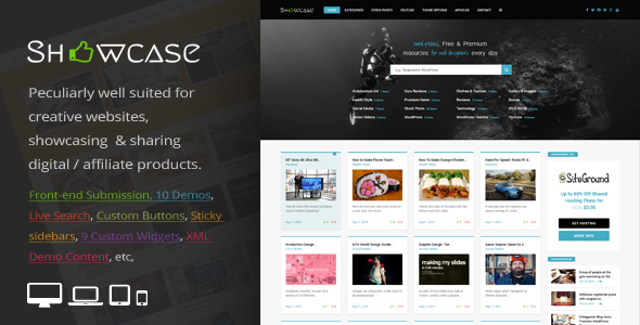Showcase = Responsive WordPress Grid / Masonry Blog Theme