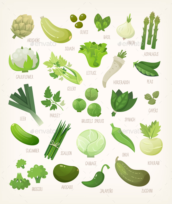 Green Vegetables - Food Objects