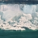The Icy Niagara Falls. View From the Canadian Coast To the Epic Waterfall, Where the Rocks Are - VideoHive Item for Sale