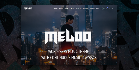 Meloo -  Music Producers, DJ & Events Theme for WordPress - Music and Bands Entertainment