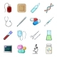Medicine and Treatment Cartoon Icons in Set