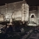 Pan Shot of Ruins Near Colosseum on Winter Night, Rome, 2018 - VideoHive Item for Sale
